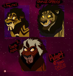 Adoption Auction OPEN - Villain Lions V by Nala15