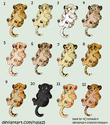 Point Adopts - Leopard Babies! CLOSED