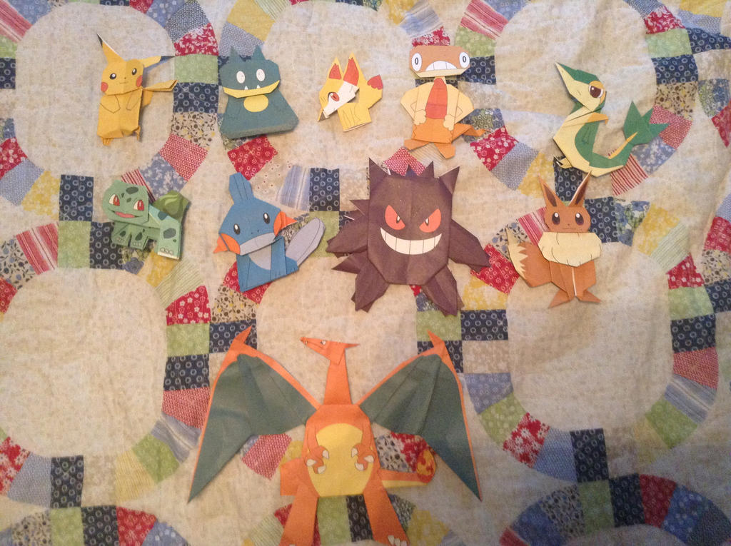 Pokemon Origami Fold Your Own Pokemon   amazoncom