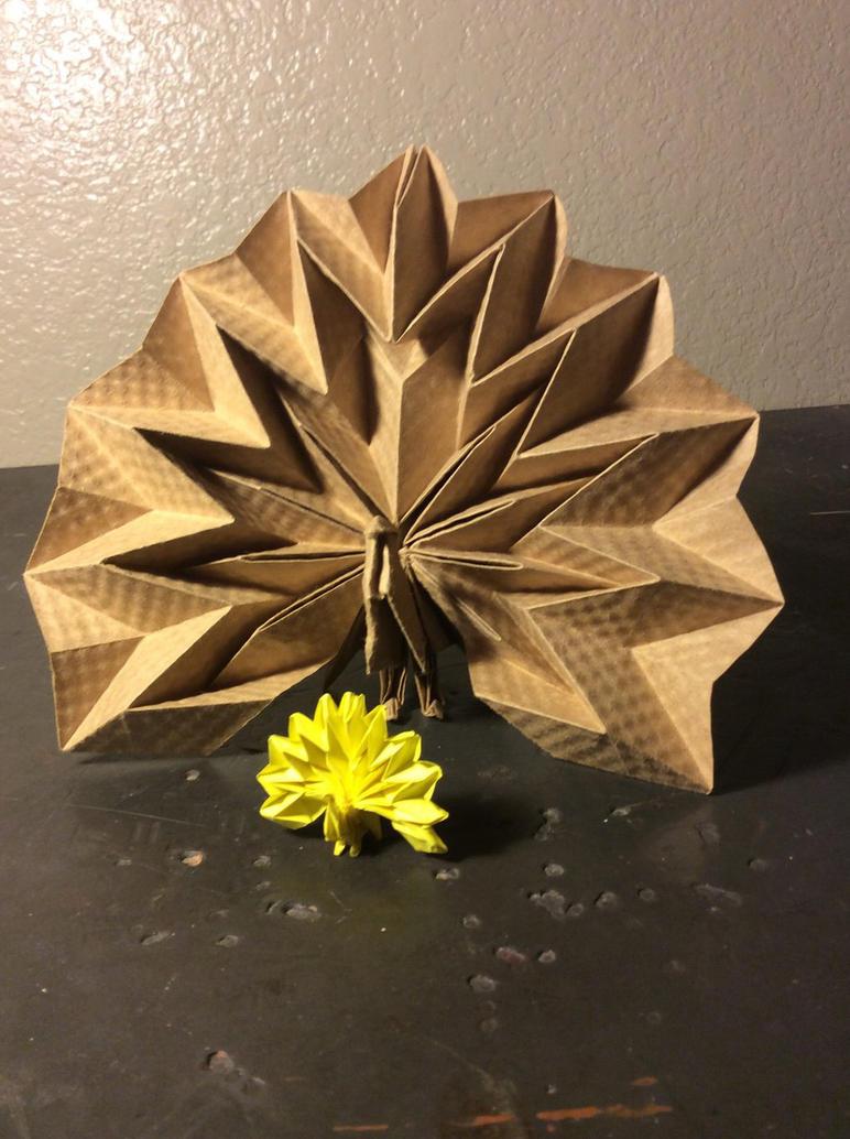Origami Peacock Jun Maekawa Post It By Cmwacker99