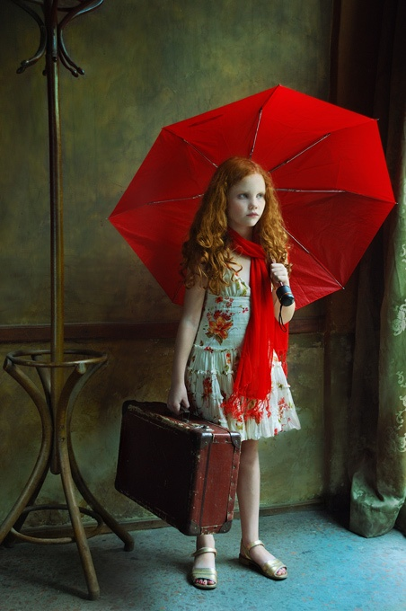 The girl with a red umbrella by red head madness on deviantart for Painting red umbrella