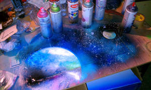 Space Painting Video by JACKIEthePIRATE