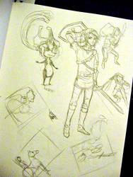 Zelda doodles by JACKIEthePIRATE