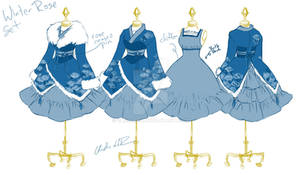 Winter Rose Wa-Lolita Set
