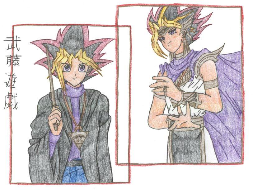 Panseru and Yugi Motou by SkylaDoragono