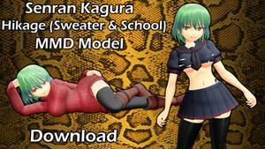 (MMD DL) Hikage Sweater and School outfits