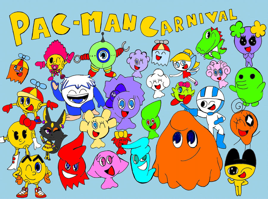 Pac-Man Carnival Characters By StrawberryStar123 On DeviantArt