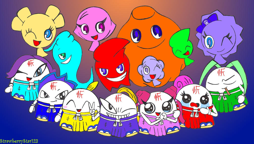 The Ghost Gang + The 7 Tsujigiri By StrawberryStar123 On