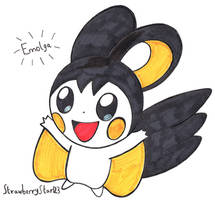 The Electric-Type Pokemon Emolga by StrawberryStar123