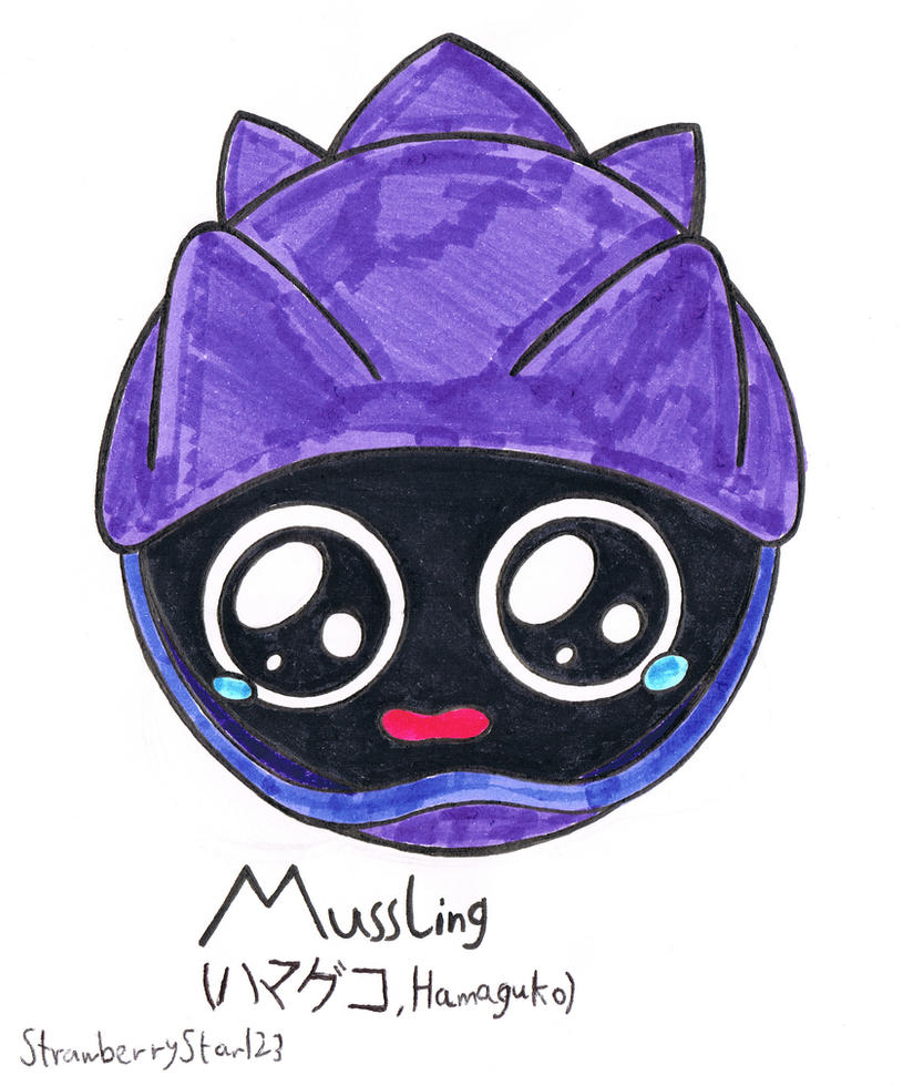 Shellder Pre-Evolution - Mussling by StrawberryStar123 on DeviantArt