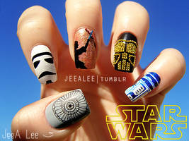 Star Wars Nails by jeealee