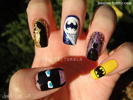 Batman Nails by jeealee