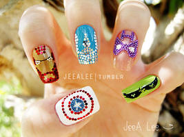 The Avengers Nails by jeealee