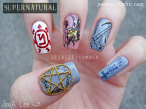 Supernatural Nails by jeealee