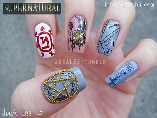 Supernatural Nails By Jeealee On Deviantart
