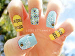 Bumble Bee Nails