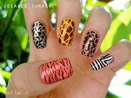 Animal Print Nails by jeealee