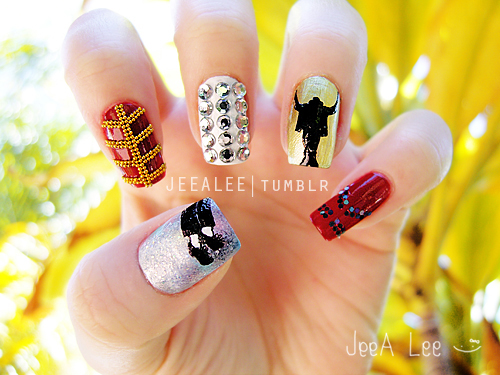 Michael Jackson Nails by jeealee on DeviantArt
