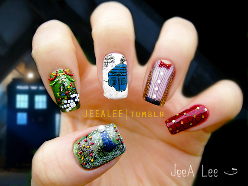 The Doctor, The Widow, And The Wardrobe | Nail Art