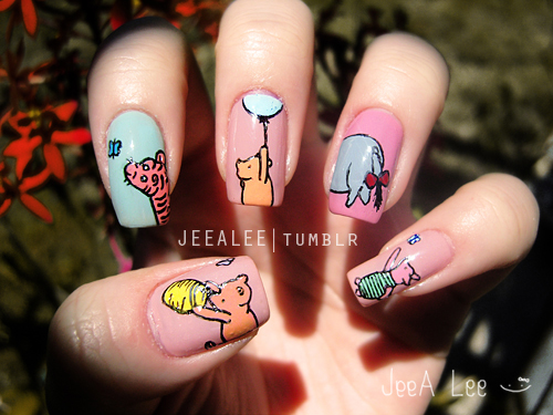 Classic Winnie The Pooh And Friends Nails By Jeealee On Deviantart
