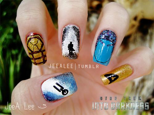 Star Trek Into Darkness Nails By Jeealee On Deviantart