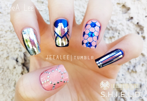 Marvels Agents Of Shield Nails By Jeealee On Deviantart
