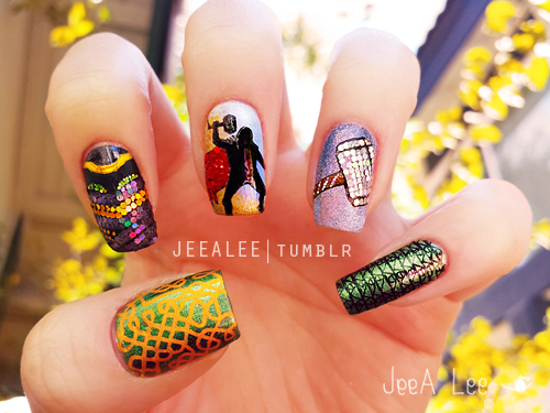 Thor: The Dark World Nails by jeealee