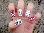 Winter Moose Nails