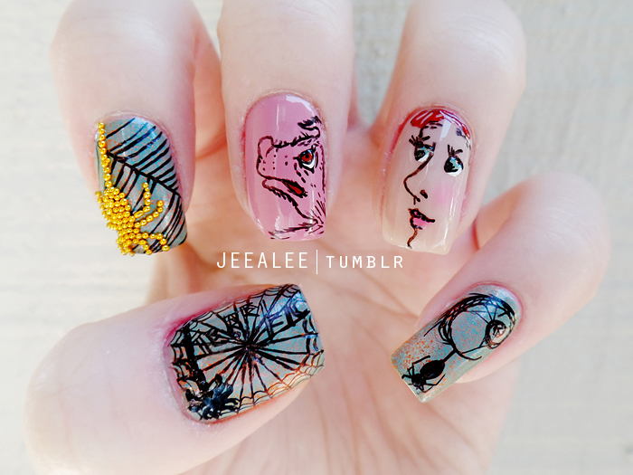 Charlotte's Web Nails by jeealee