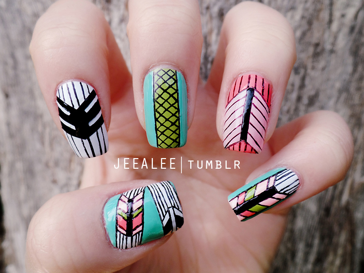 Geometric Nails by jeealee