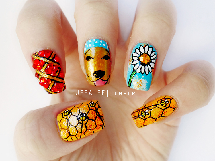 Pushing Daisies Nails by jeealee