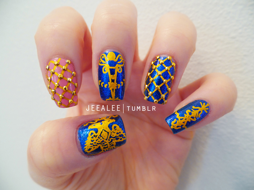 Faberge Egg Nails by jeealee
