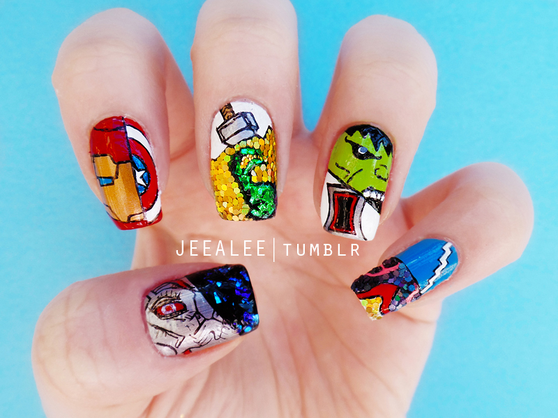 The Avengers : Age of Ultron Nails by jeealee
