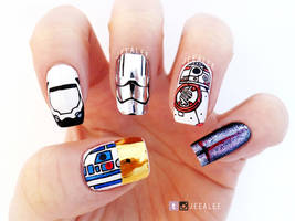 Star Wars: The Force Awakens Nails by jeealee