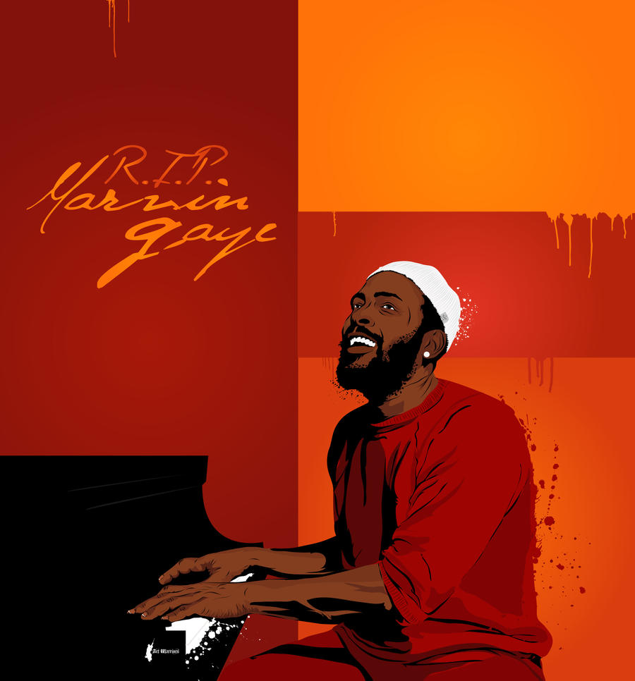 R.I.P. Marvin Gaye by artwarriors