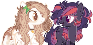 MLP OC|Cameron and Yumi (Collab) by ToffeeLavender