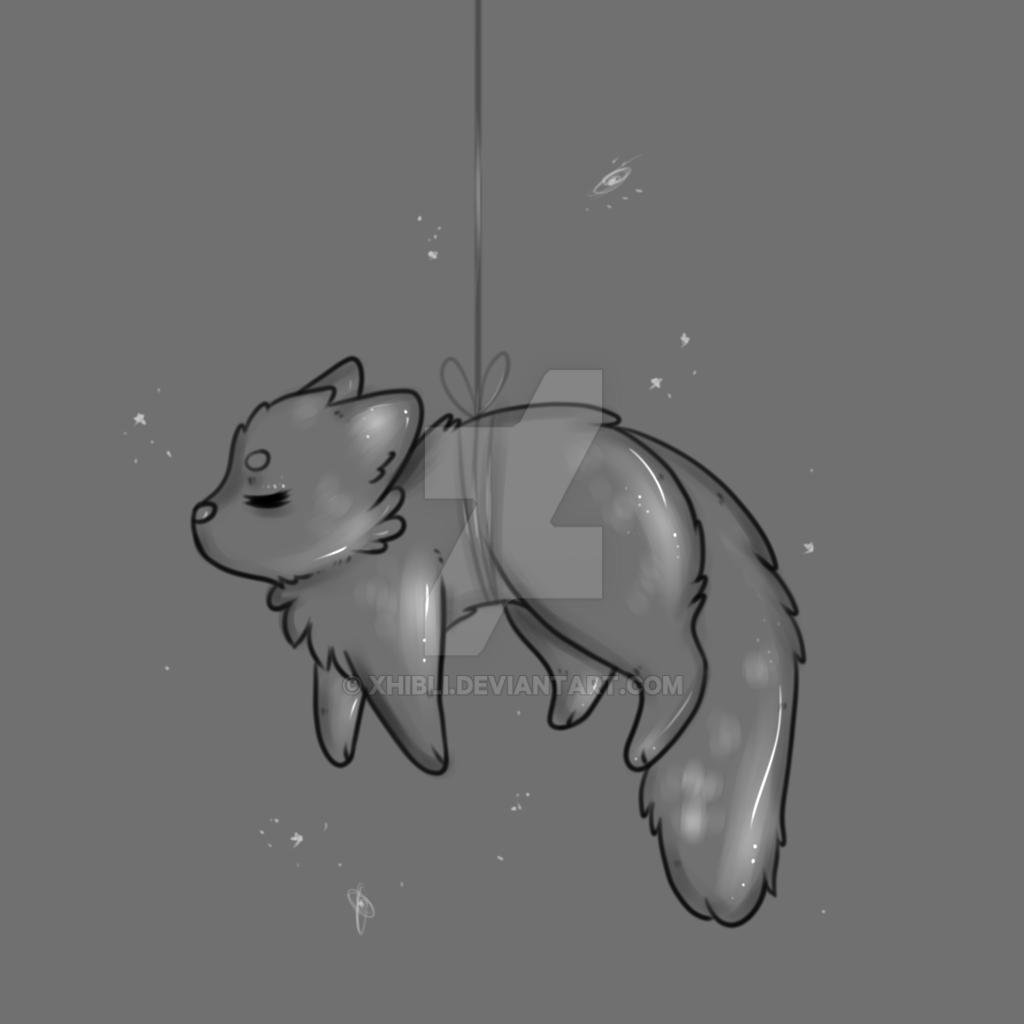 Kitty On A String- YCH {CLOSED} by Xhibli