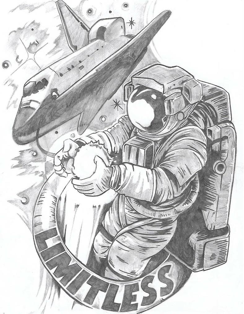 Astronaut Sketch  by Tmonink