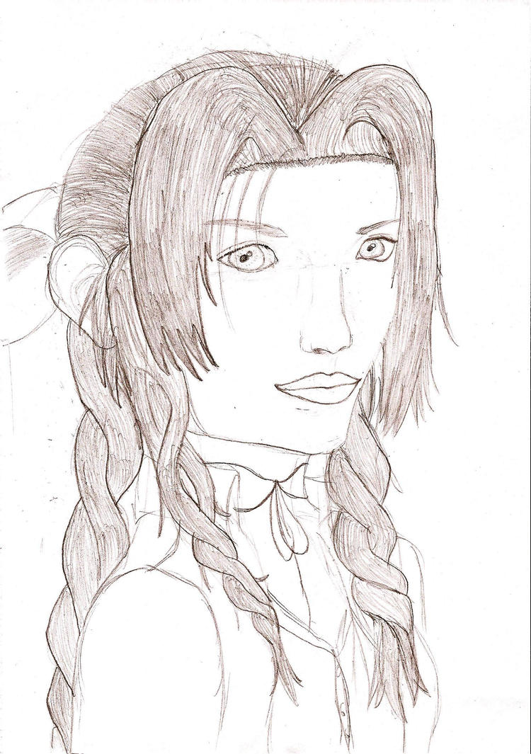 Aerith - On A Way To A Smile by ChrisCHJ