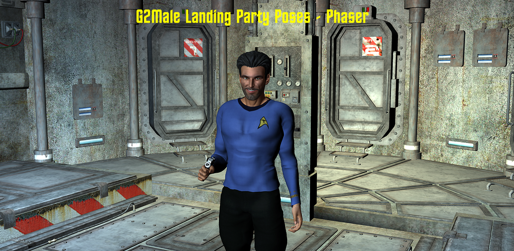 Landing Party Poses - Phaser, for the G2 Male by ssgbryan