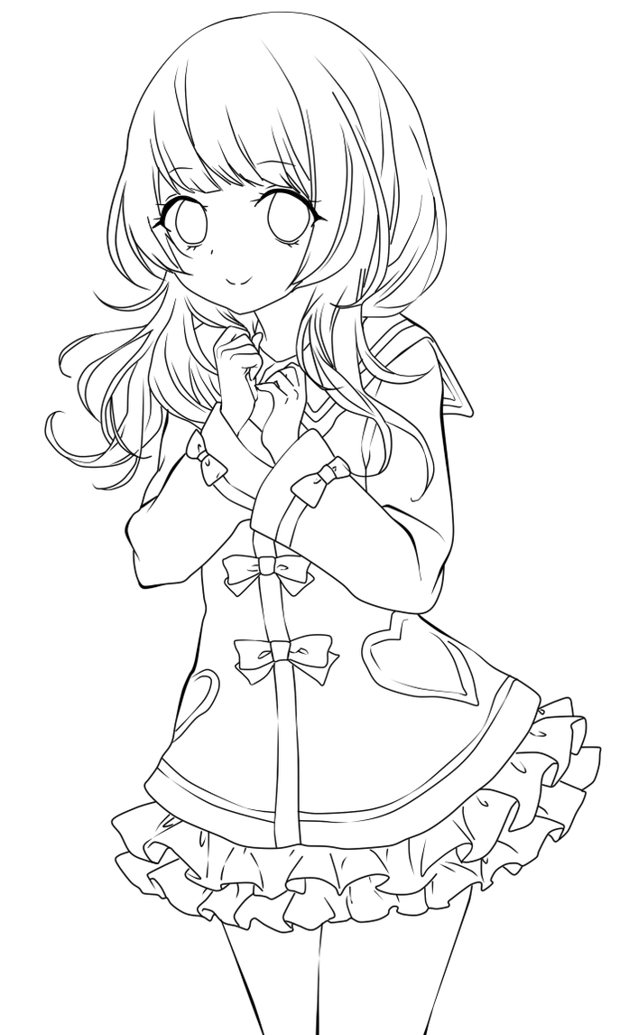 Line Art Anime : Cute anime girl lineart by chifuyu san on deviantart