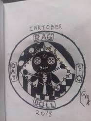 Inktober 2018: Day 10- Rag Doll by Maxirider