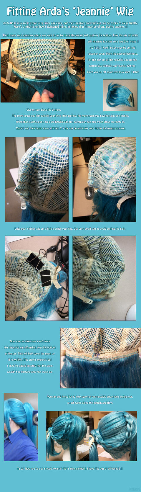 Fitting Arda's Jeannie Wig Tutorial by PrettyKitty