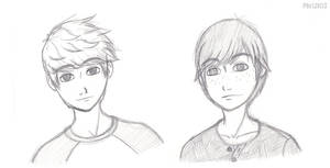 Jack and Hiccup Busts