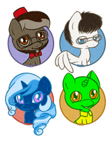 FiveIron,Nightinggale, Sapphire Star, whatshisname by PrettyKitty