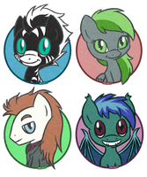 Lil Zeta, Forest Rain, Starlight, Araxnus by PrettyKitty