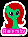 Commish - Railershy Badge by PrettyKitty