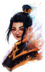 Azula Portrait by SuperGalaxyFox