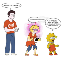 You Are Lisa Simpson (Art by Anon) by Dommerik