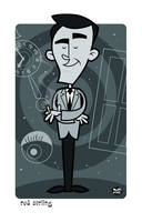 Rod Serling by Montygog